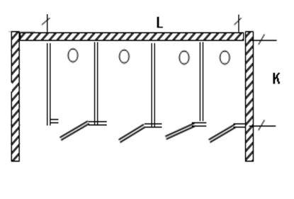 Изображение Перегородка для разделения санузлов 4-х створчатая, угловая, 3600х1200х2000 мм