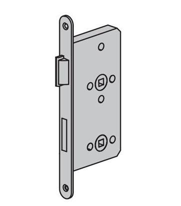 Изображение Замок для ванных комнат, WC. Дверь ZK с пластмассовой защелкой (правый) Арт.31593