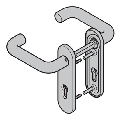 Изображение Комплект алюминиевых ручек для дверей ZK Арт.449910