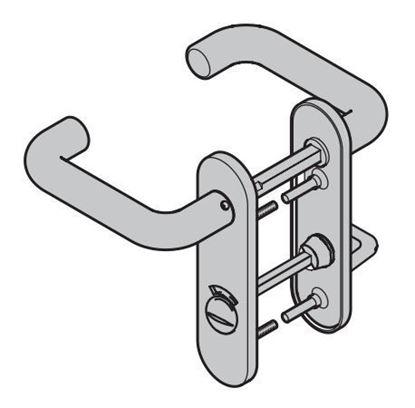 Изображение Комплект ручек черного цвета для дверей ZK с короткой накладкой Арт.534676; 534767