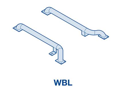 Изображение Колесные направляющие из оцинкованной стали WBL