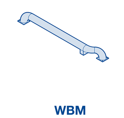 Изображение Колесная направляющая из оцинкованной стали WBM справа