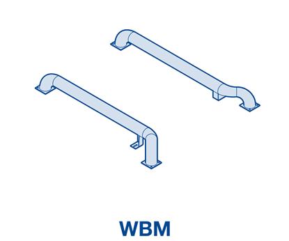 Изображение Колесные направляющие из оцинкованной стали WBM комплект