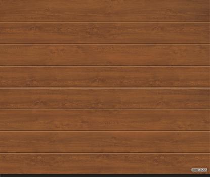 Vorota sekcionny`e LPU 42, 5000x2125, Decocolor, M-gofr, Golden oak (zolotoj dub). Art. 4015078
