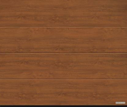 Vorota sekcionnye LPU 42, decocolor, L-gofr, cvet Golden oak (Золотой дуб)