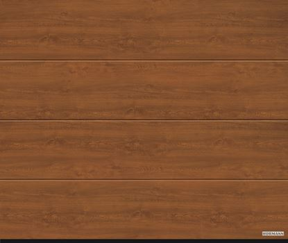 Vorota sekcionny`e LPU 42, 2500x2125, DecoColor, L-gofr, Golden oak(zolotoj dub).