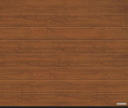 Vorota sekcionny`e LPU 42,2500x2250, DecoColor, M-gofr, Golden oak (zolotoj dub). Art. 4017208