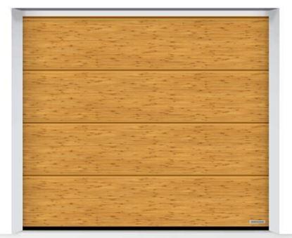Изображение Ворота секционные LPU 42 2500x2250мм Duragrain L-гофр Bambus