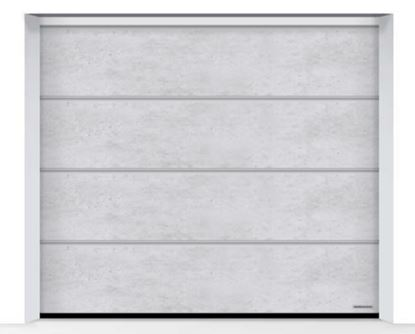Изображение Ворота секционные LPU 42 2500x2250мм Duragrain L-гофр beton