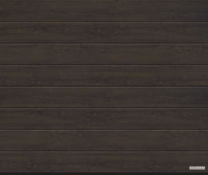 Vorota sekcionny`e LPU 42, 3000x2500, DecoColor, M-gofr, Night oak (Nochnoj dub). Art.4017234