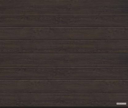 Vorota sekcionny`e LPU 42, 4000x2500, DecoColor, M-gofr, Night oak (Nochnoj dub), art. 4017941