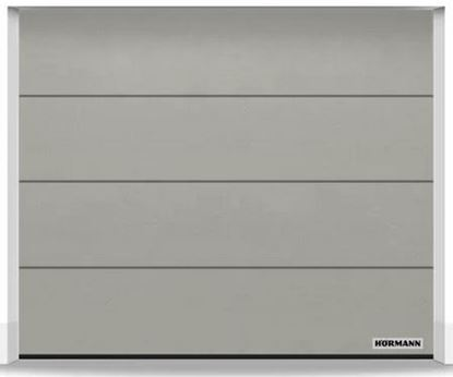 Изображение Ворота секционные LPU 42 2375x2000 мм duragrain L-гофр цвет Diamond stone