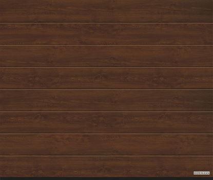 Vorota sekcionny`e LPU 42, 3000x2500, DecoColor, M-gofr, Dark oak (Temny`j dub). Art. 4017233