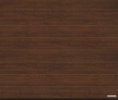 Vorota sekcionny`e LPU 42, 3000x2250, DecoColor, M-gofr, Dark oak ( temny`j dub). Art. 4017230